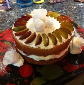 Plum Victoria Sponge Cake