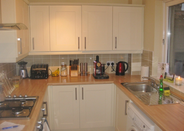 Our new kitchen, ready for cooking to commence!