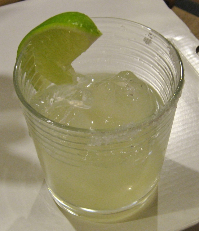 Homemade margarita, mixed by dad