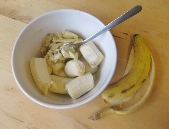 3 ripe bananas for mashing
