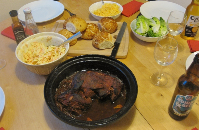 slow-cooked BBQ pulled pork tagine