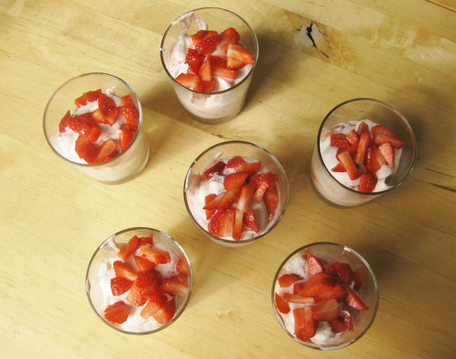 Homemade strawberry fools