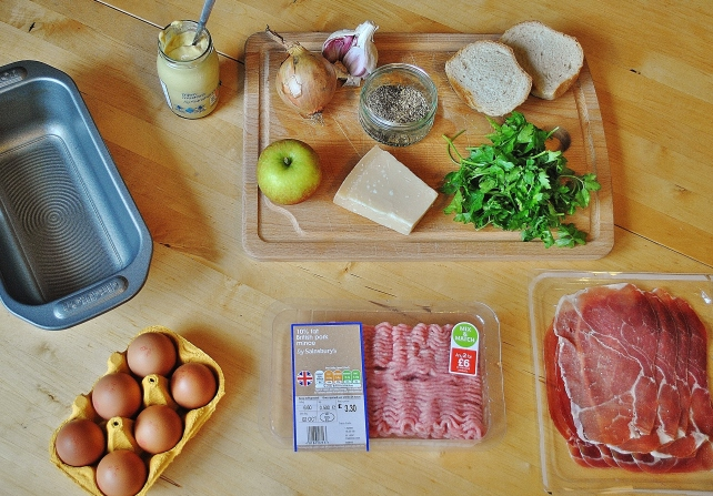Ingredients for homemade meatloaf