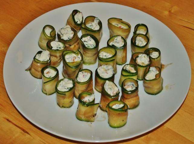 Italian antipasto courgette rolls 2