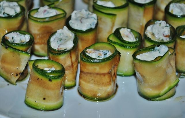 Italian antipasto courgette rolls 3