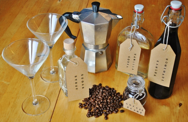 Ingredients for espresso martinis