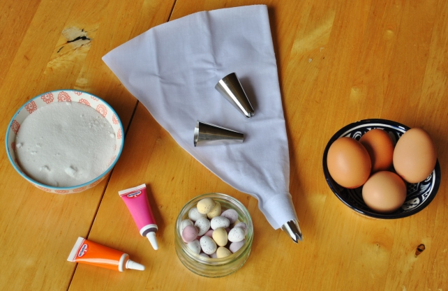 Ingredients for Easter meringue nests