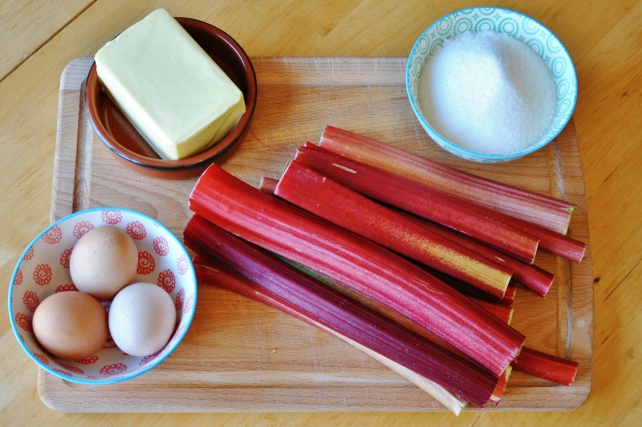 Ingredients for rhubarb curd