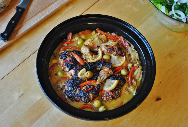 Moroccan chicken tagine with preserved lemons and olives