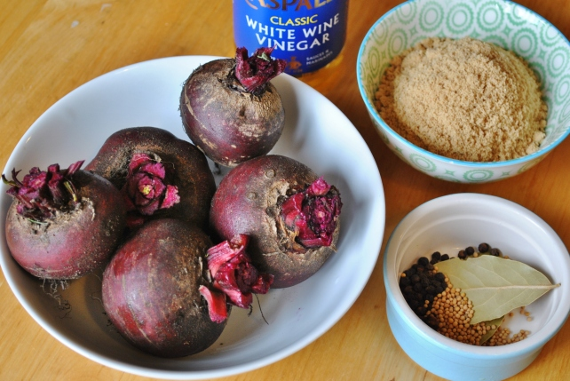 Ingredients for pickled beetroot